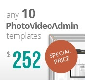 10 Photo and Video Admin flash templates bundle package
