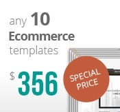 10 Ecommerce templates bundle package