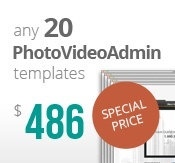 20 Photo and Video Admin flash templates bundle package