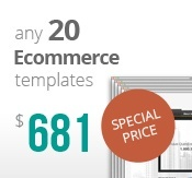 20 Ecommerce templates bundle package