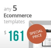 5 osCommerce template's bundle package
