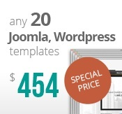 20 Joomla & Wordpress templates bundle package
