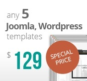 5 Joomla & Wordpress templates bundle package
