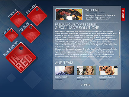 Design in red, Flash template