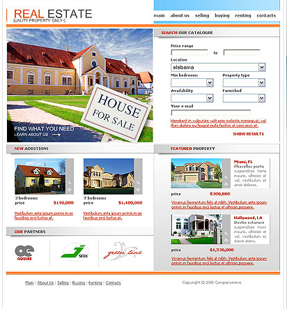 Your home, Website template