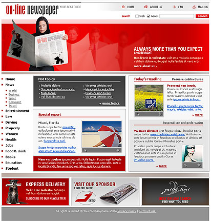 newspaper template website