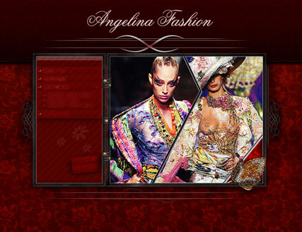Angelina fashion, Flash template