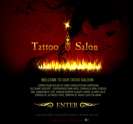 Tattoo, Flash template
