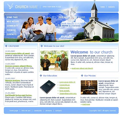 free church website templates - powerpoint templates free download church website