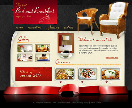 Bed and breakfast - Flash template ID:300109734