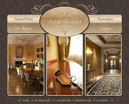 Bed and Breakfast, Flash template