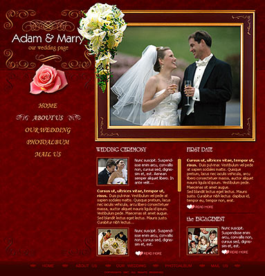 Wedding, Flash template
