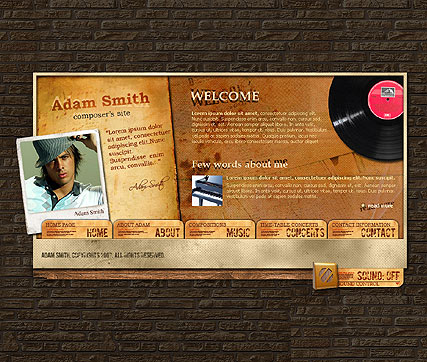 Composer, Flash template