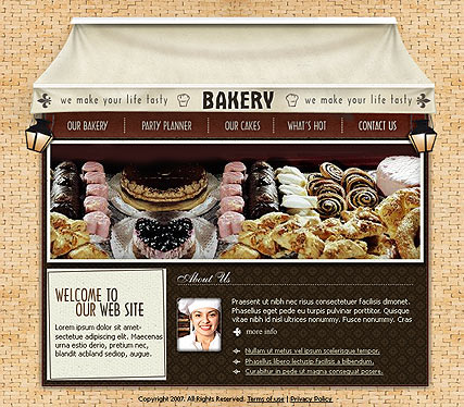 Bakery, Flash template
