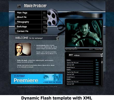 Movie Producer, Flash template