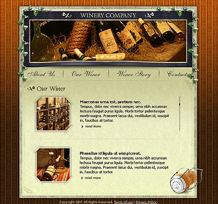 Name: Winery co. - Type: Flash template - Item number:300109802