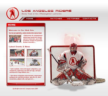 Name: Hockey - Type: Flash template - Item number:300109813