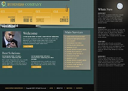 Name: Business Company - Type: Flash template - Item number:300109817