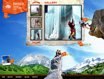 Name: Climbers Club - Type: Flash template - Item number:300109823