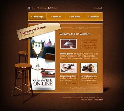 Name: Caffe - Type: Flash template - Item number:300109824