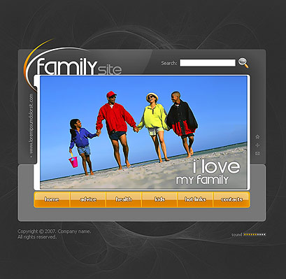Name: My family - Type: Flash template - Item number:300109826