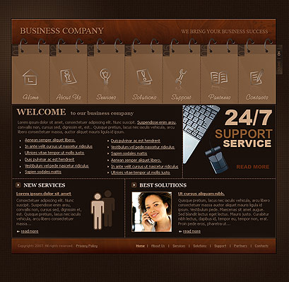 Name: Business company - Type: Flash template - Item number:300109827
