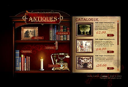 Name: Antiques - Type: Flash template - Item number:300109830