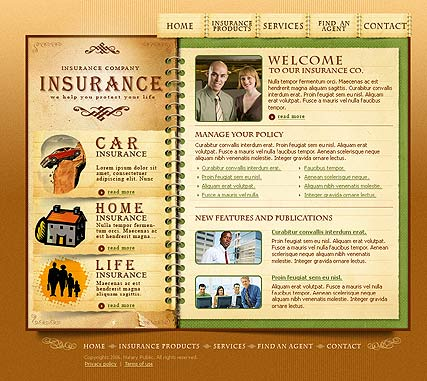 Name: Insurance - Type: Flash template - Item number:300109831