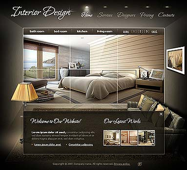Http Www Cbmcard Com Interior Design Flash Template 300109883 Html