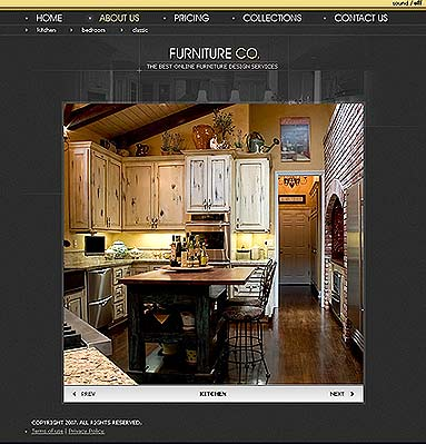 Furniture co., Flash template
