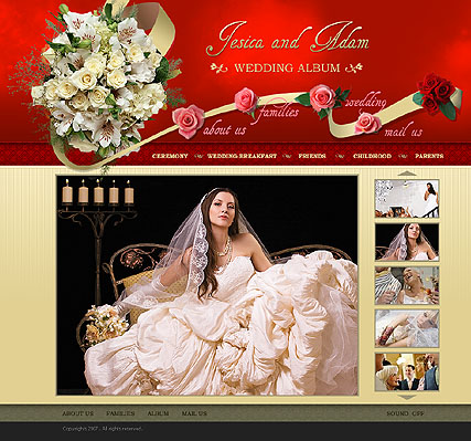Wedding photography, Dynamic Photo Gallery Admin flash template