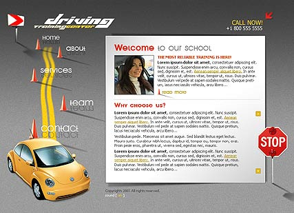 Driving School, Flash template