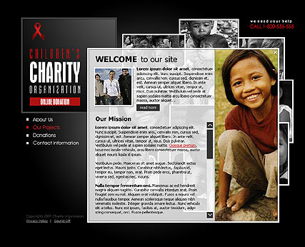 Charity, Flash template