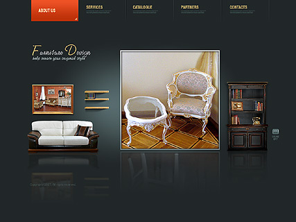 Furniture dynamic, Easy flash template