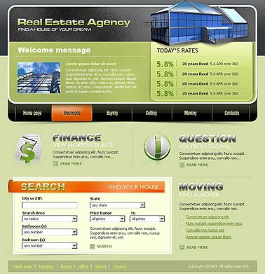 Name: Real estate - Type: HTML template - Item number:300109977