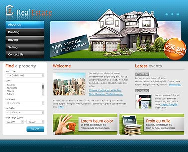 Real estate, HTML template