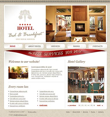 Name: Bed and breakfast - Type: HTML template - Item number:300110000