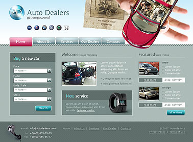 Name: Auto dealer - Type: HTML template - Item number:300110001