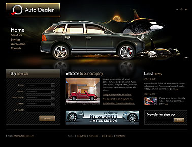 Name: Auto dealer - Type: HTML template - Item number:300110004
