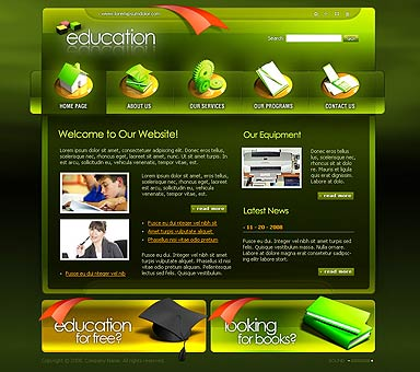 Education, Flash template