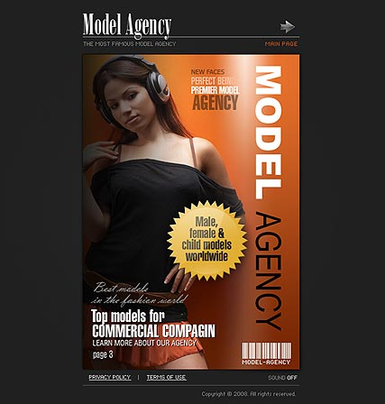 Model Agency, Flash template