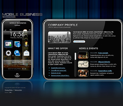 Mobile business, Flash template