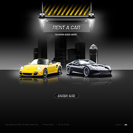 Rent a car | Flash template | ID:300110046