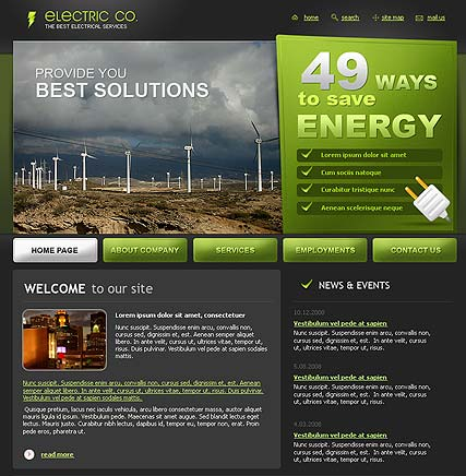 Electric co., Website template
