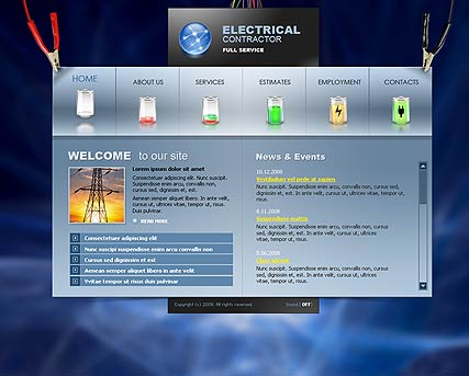 Electrical contractor | Flash template | ID:300110055