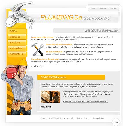 Plumber | Flash template | ID:300110057