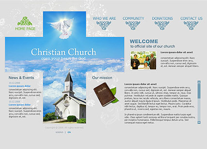 Name: Church - Type: Flash template - Item number:300110061