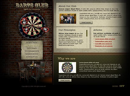 Dart club, Flash template