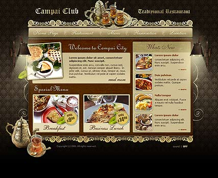 Restaurant | Flash template | ID:300110065