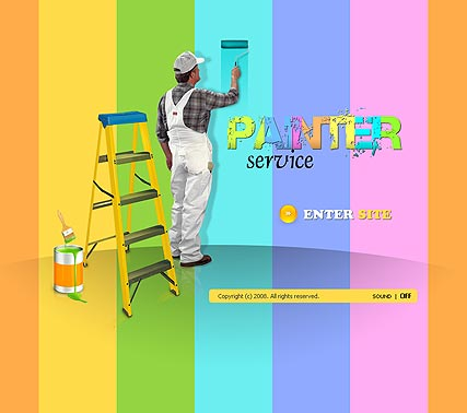 Name: House painter - Type: Flash template - Item number:300110067